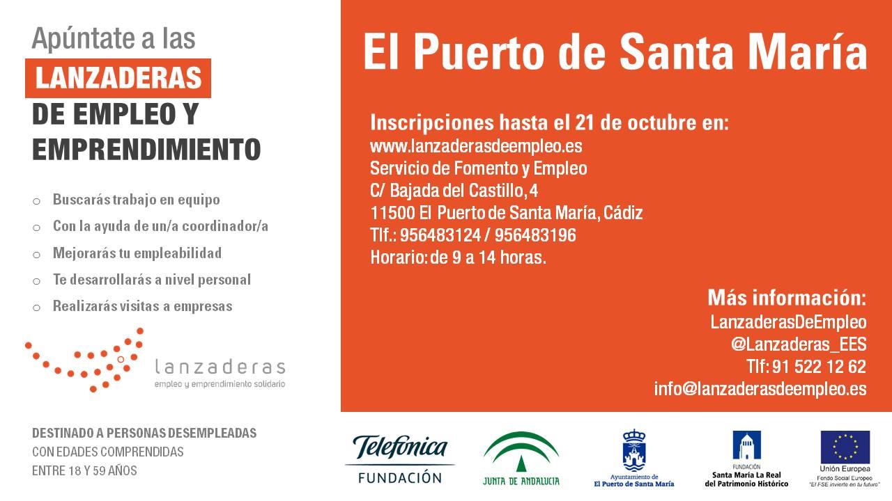 El Puerto de Santa María contará con una Lanzadera de Empleo para favorecer la inserción laboral