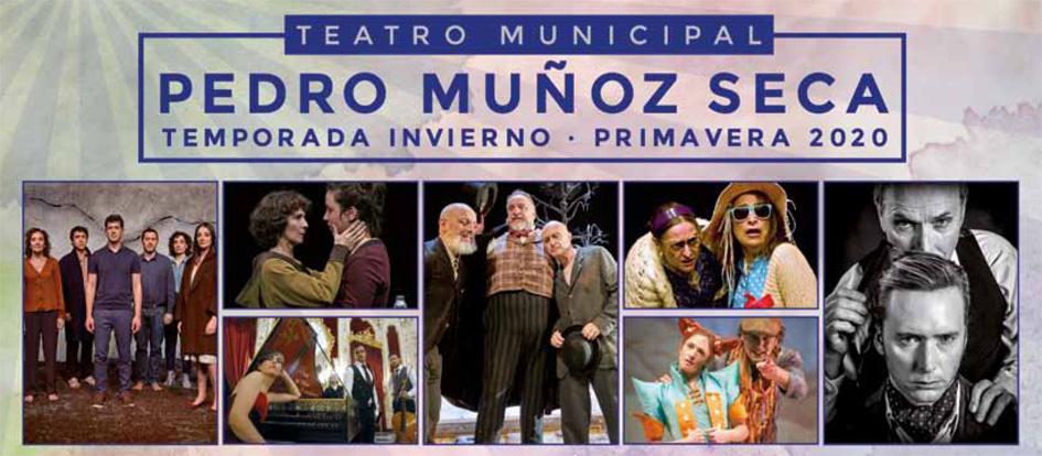 Programación de la Temporada de Invierno-Primavera 2020 en el Teatro Pedro Muñoz Seca