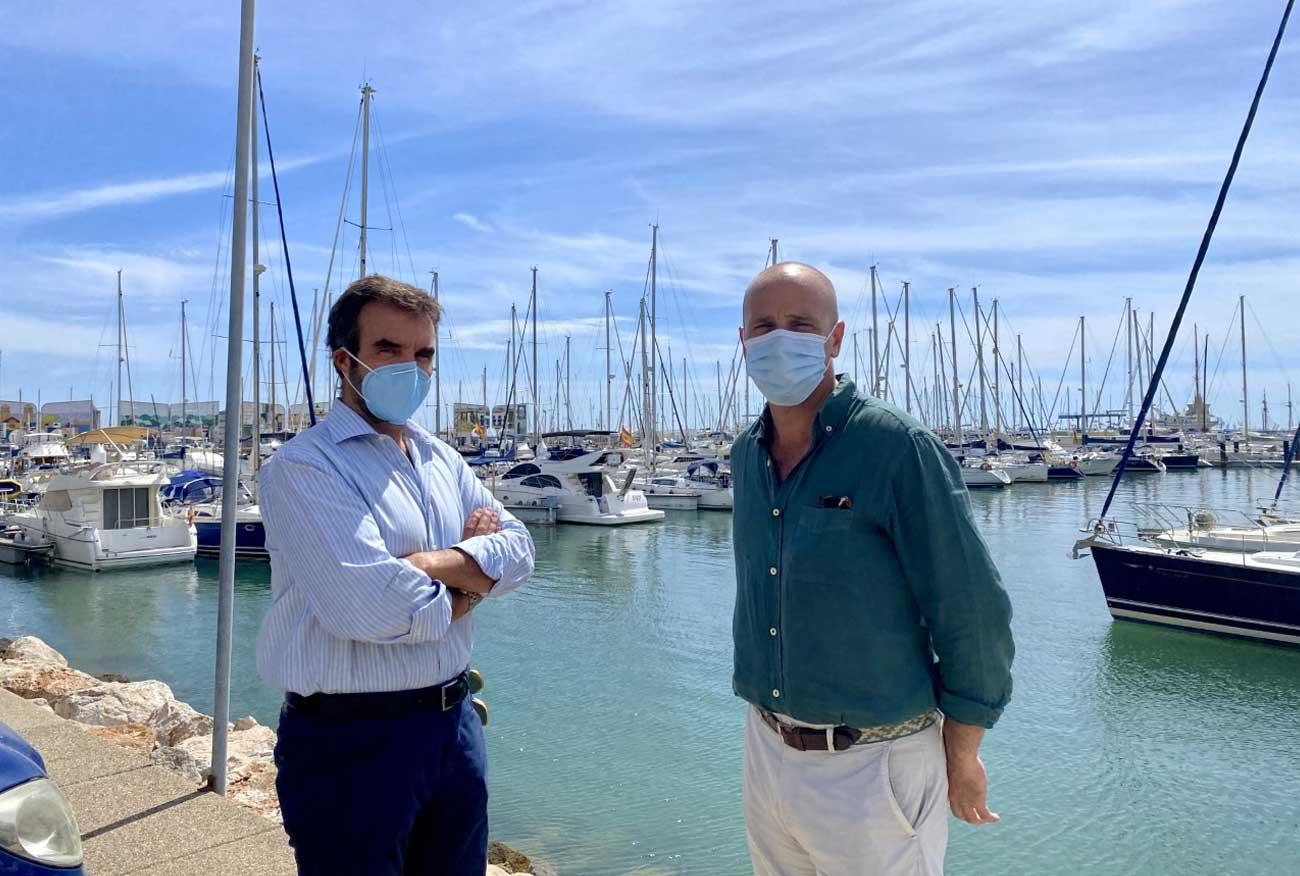 Millán Alegre se reúne con el director general de Puerto Sherry, para abordar el futuro del servicio de autobuses