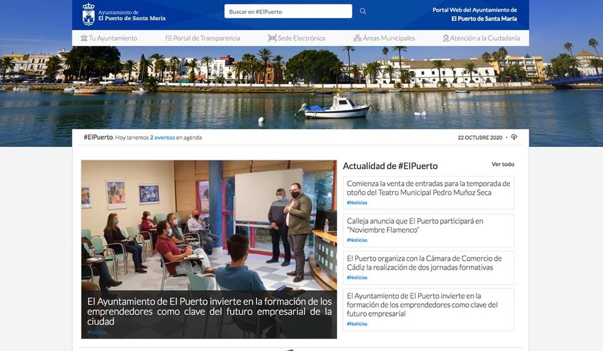 El Ayuntamiento de El Puerto estrena nueva versión de su web municipal