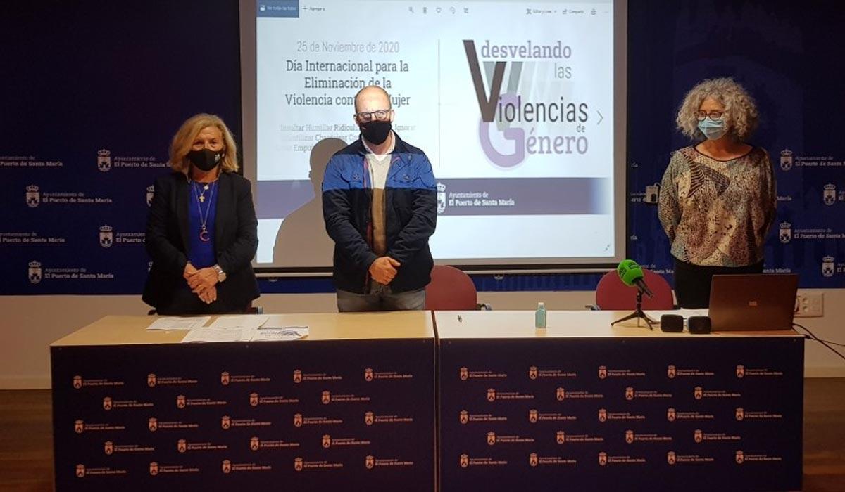 El Ayuntamiento de El Puerto se tiñe de violeta desvelando las Violencias de Género en un año marcado por la pandemia