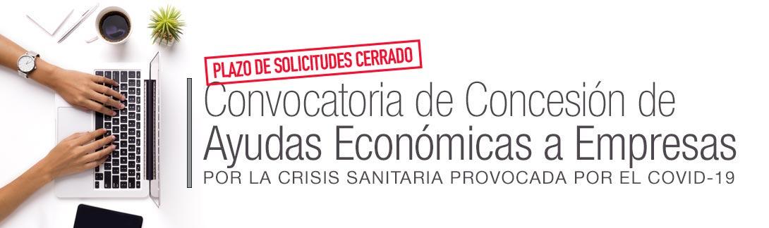 Convocatoria de Concesión de Ayudas Económicas a Empresas por la Crisis Sanitaria provocada por el CoVid-19