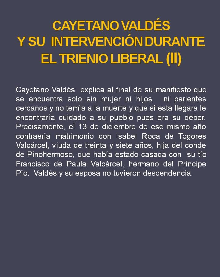 Cayetano Valdés (El Trienio Liberal II)