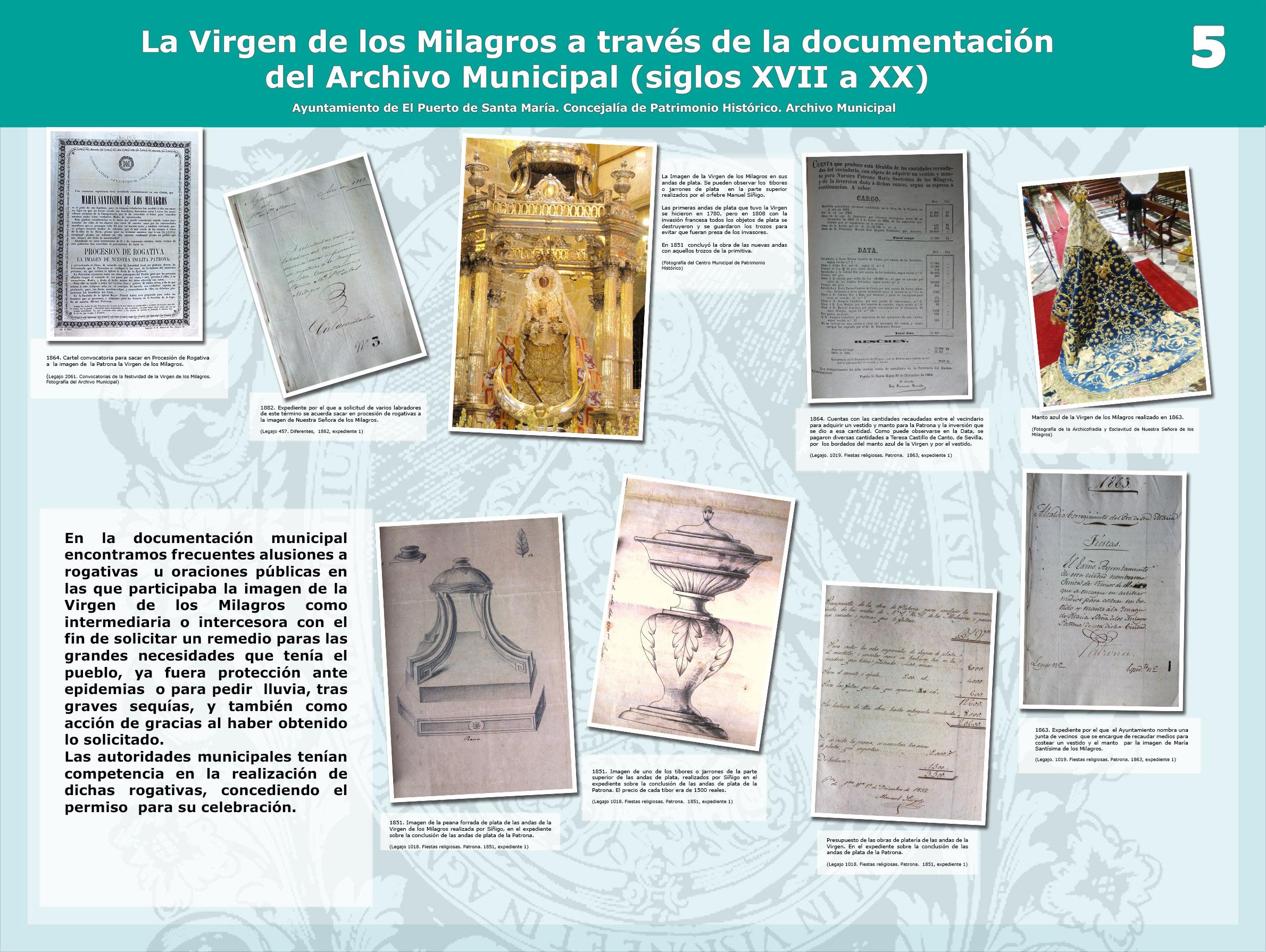 La Virgen de los Milagros a través de la documentación del Archivo Municipal (s. XVII a XX)