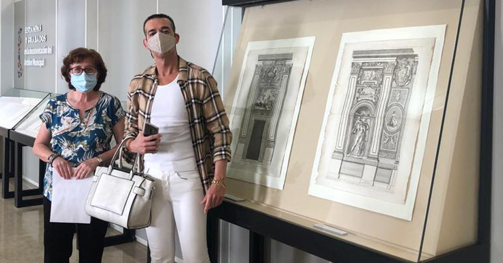 """Calleja inaugura la exposición """"Estampas y grabados en la documentación del Archivo Municipal de El Puerto de Santa María"""""""