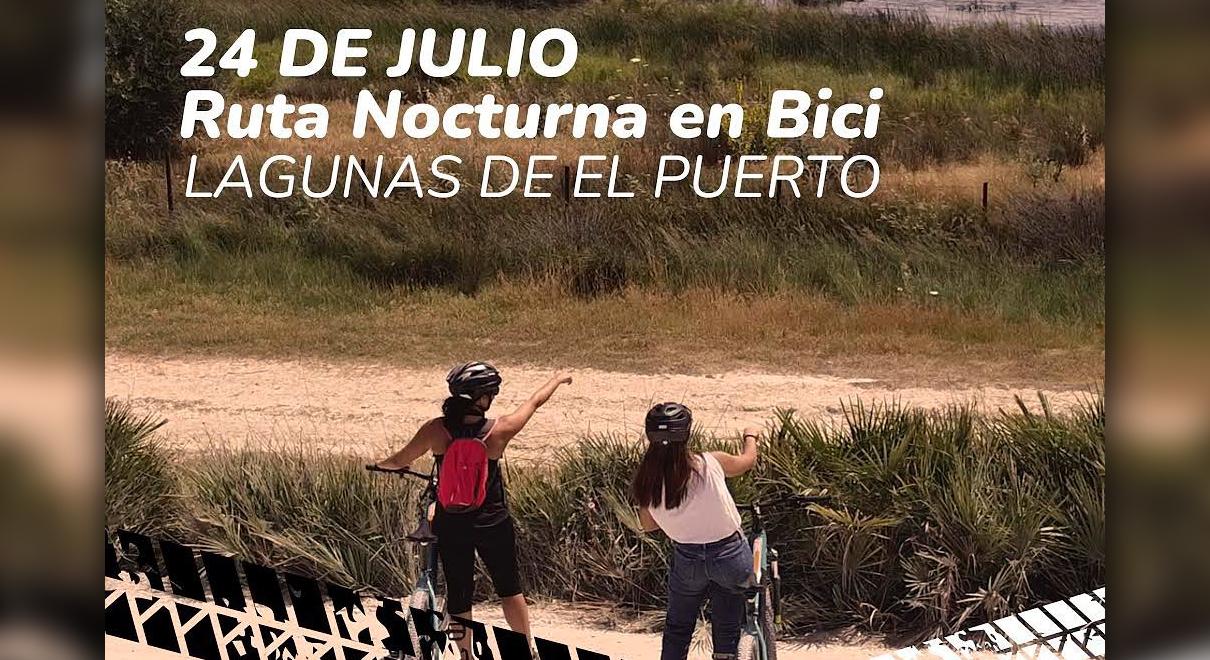 Medio Ambiente organiza una ruta guiada nocturna por las 'Lagunas de El Puerto' en bicicleta bajo la luna llena