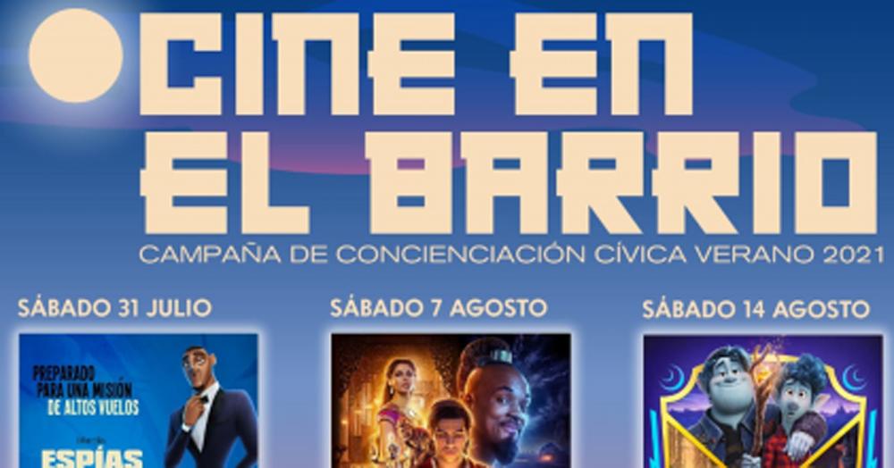 Cine en el Barrio. Aladdin