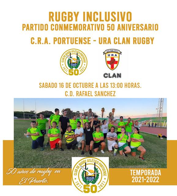 Rugby inclusivo. Partido conmemorativo 50º aniversario